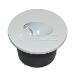 3W LED Steplight Rotund Alb natural