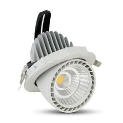 33W Spot LED Zoom Fitting Rotund Alb cald